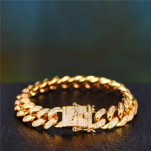 Aporro Iced Out Cuban Bracelet