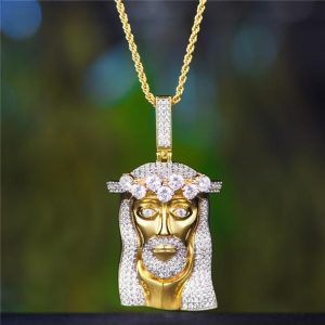 Aporro Iced Out Jesus Necklace