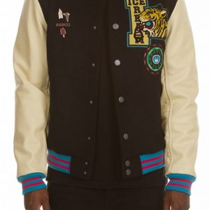 Ice Cream Dipped Varsity Jacket