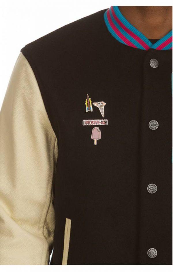 Ice Cream Dipped Varsity Jacket