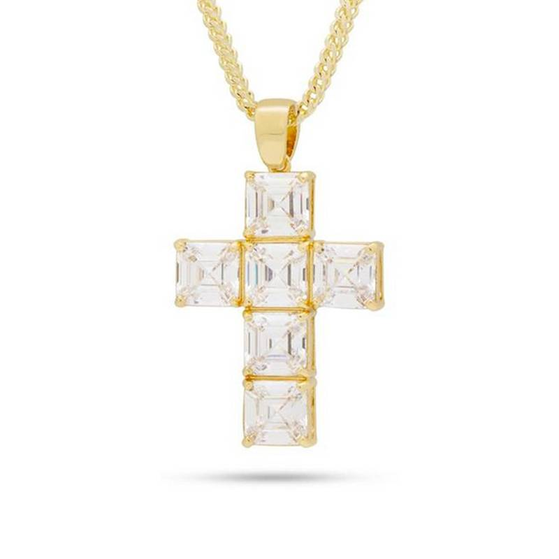 King Ice Celestial Cross Necklace