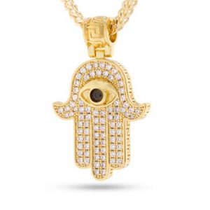 King Ice Hamsa Necklace