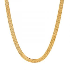 14K Thin Herringbone Chain