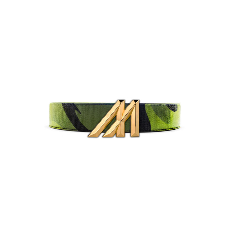 Mint Camo Leather Belt