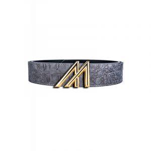 Mint Croc Belt Grey