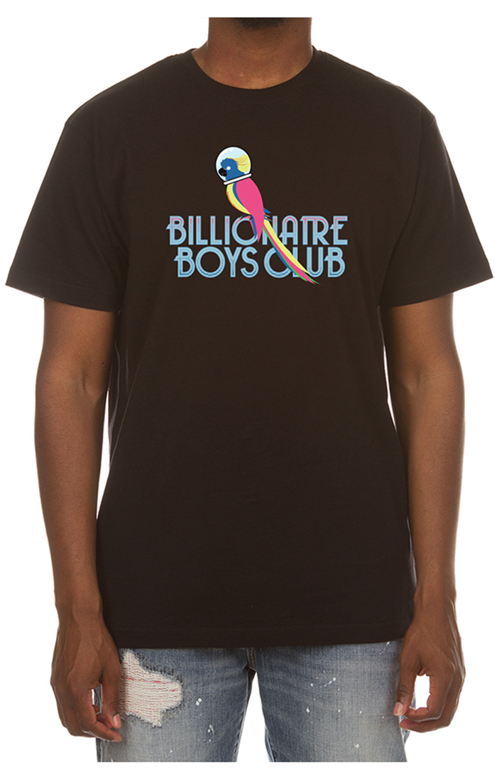 billionaire boys club parrot tee black