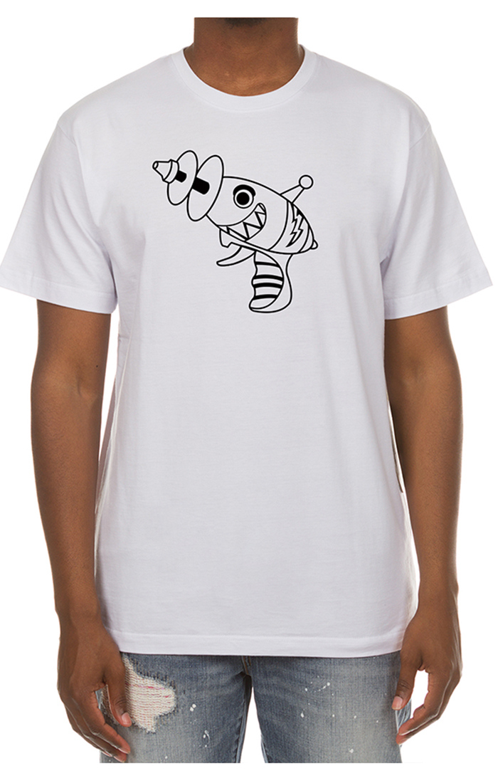 billionaire boys club raygun tee white