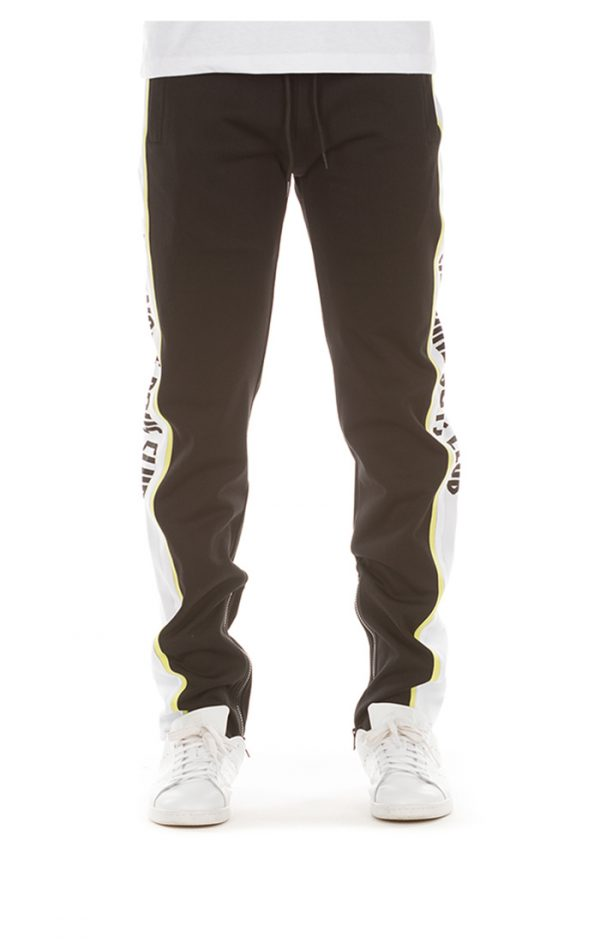 billionaire boys club vertical track pants neon