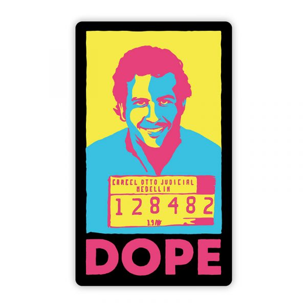 Stickie Bandits Dope Narcos Sticker Pink Turquoise