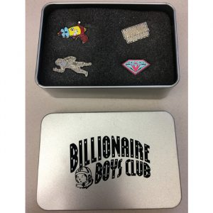 billionaire boys club arch tin box pin set