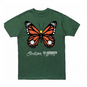 chinatown market butterfly tee green