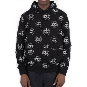 crooks and castles all over core hoodie black