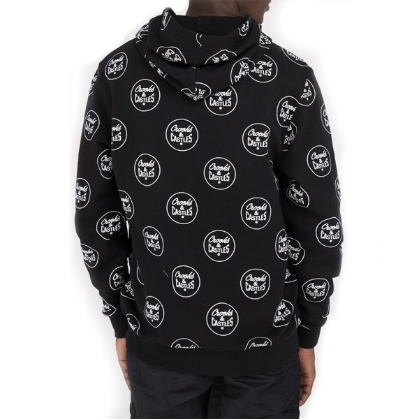 crooks and castles all over new core hoodie