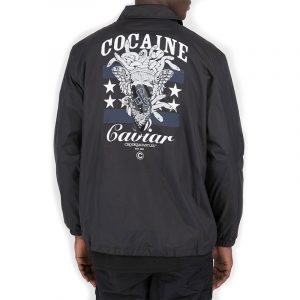 crooks and castles evertyhing coach jacket black back