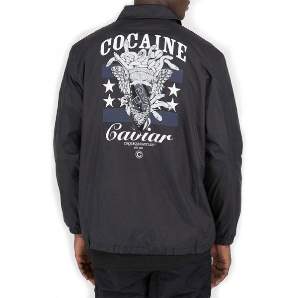crooks and castles evertyhing coach jacket black back