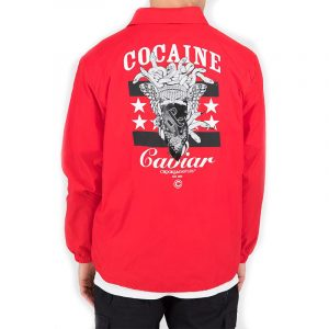 crooks and castles everything coach jacket red jacket