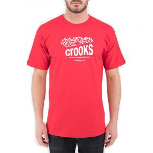 crooks and castles slashed bandito tee red