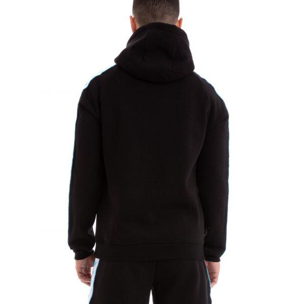 kappa baccello hoodie black turqoise
