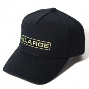 XLarge rounded trucker cap black