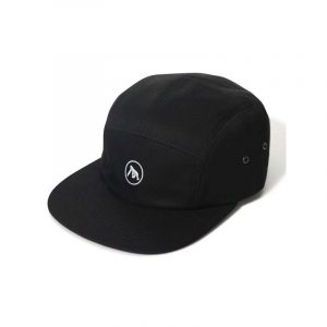 XLarge Embroidered Camp Cap Black