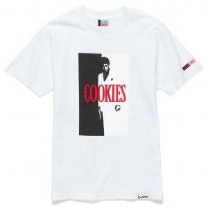 cookies x scarface collab tee white