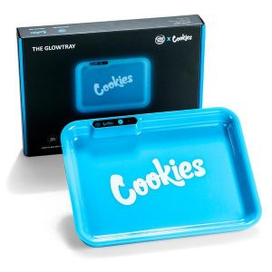 Cookies glow tray in blue