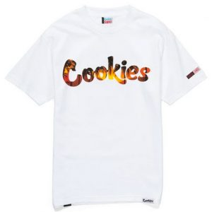 cookies scarface tropical sunset tee white