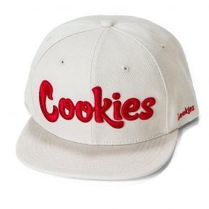cookies thin mint snap back cream & red