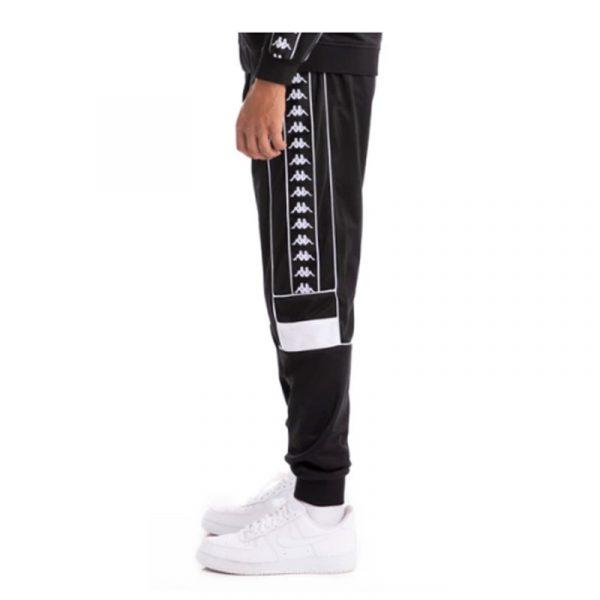 kappa banda memzz track pants black-white