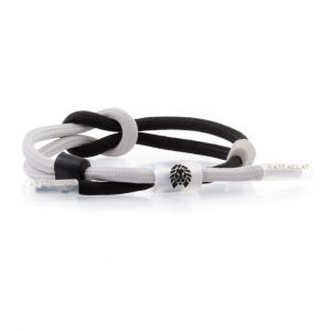 Rastaclat Knotted Bracelet Mono Draft black grey