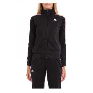 Womens Kappa Anniston Track Jacket Black-Fuchsia