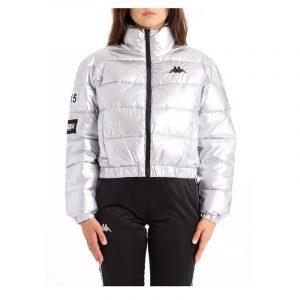 Womens Kappa Authentic La Boltan Jacket Silver-Black-White