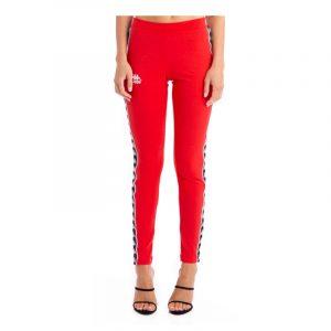 Womens Kappa Banda Anen Leggings Red-Black