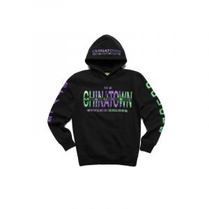 Chinatown Market Cross Colors Hoodie Black