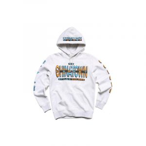 Chinatown Market Cross Colors Hoodie Grey