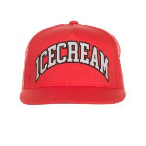 Ice Cream Collegiate Snap back deep sea coral