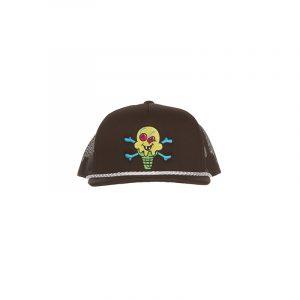 Ice Cream Cross Cones Trucker Hat Black