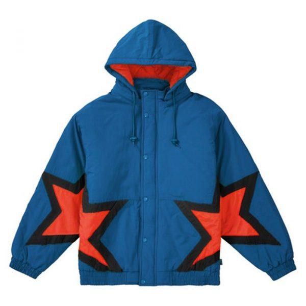 Supreme Stars Puffy Jacket Royal
