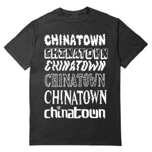 Chinatown Market Stacked Logo Tee Black