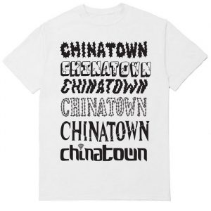 Chinatown Market Stacked Logo Tee White