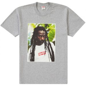 "Supreme ""Buju Banton"" Tee Heather Grey"