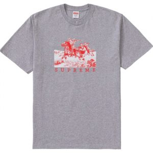Supreme Riders Tee Heather Grey