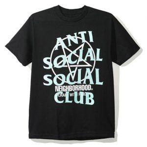 Anti Social Social Club X NBHD Get Weird Tee Black